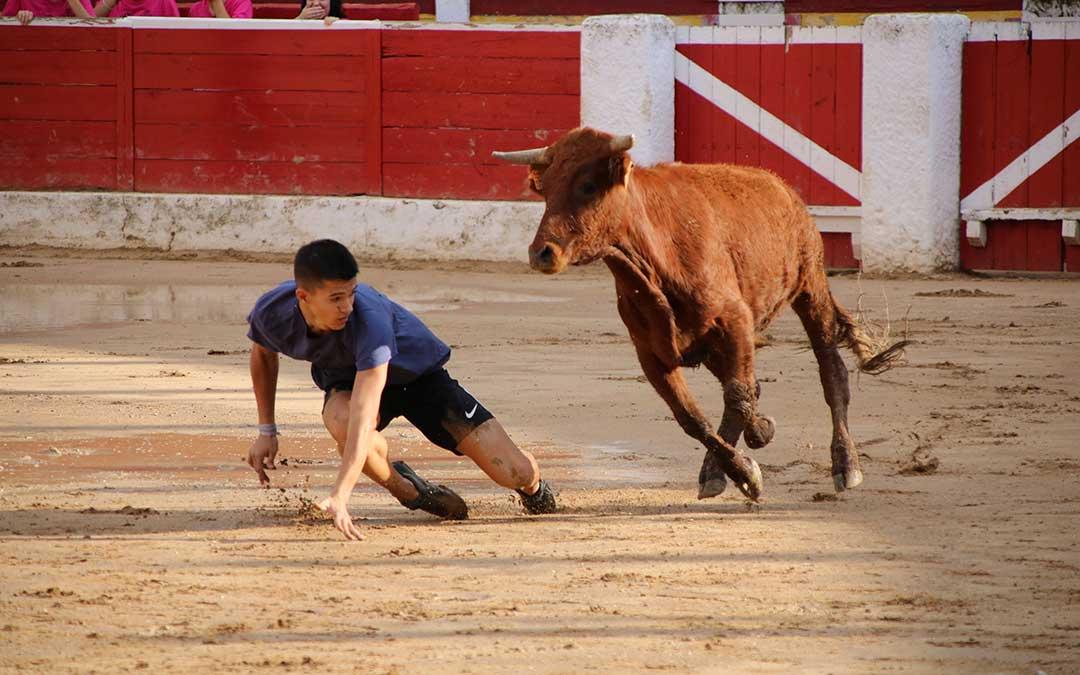 futbol-vaca-alcaniz-resbalon