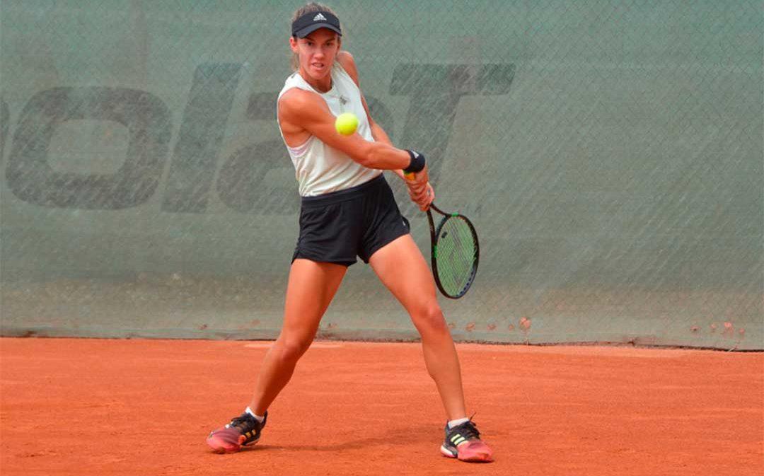 La deportista caspolina Irene Burillo, campeona de dobles en el ITF Women