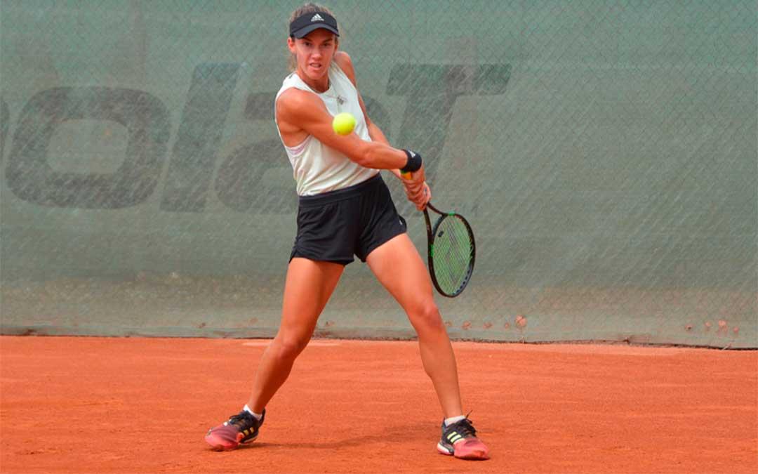 La tenista caspolina, Irene Burillo./ Foto de Twitter.