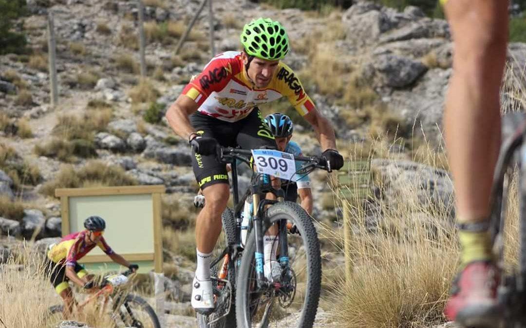 El ciclista alcañizano Iván Romero logra el subcampeonato de España en MTB categoría Máster 30