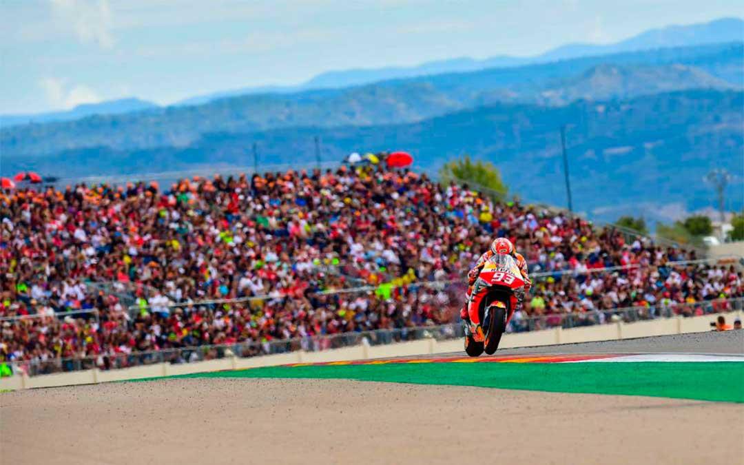 Marc Márquez, vencedor de la carrera de MotoGP, este domingo en MotorLand. // Agency Sport Media.