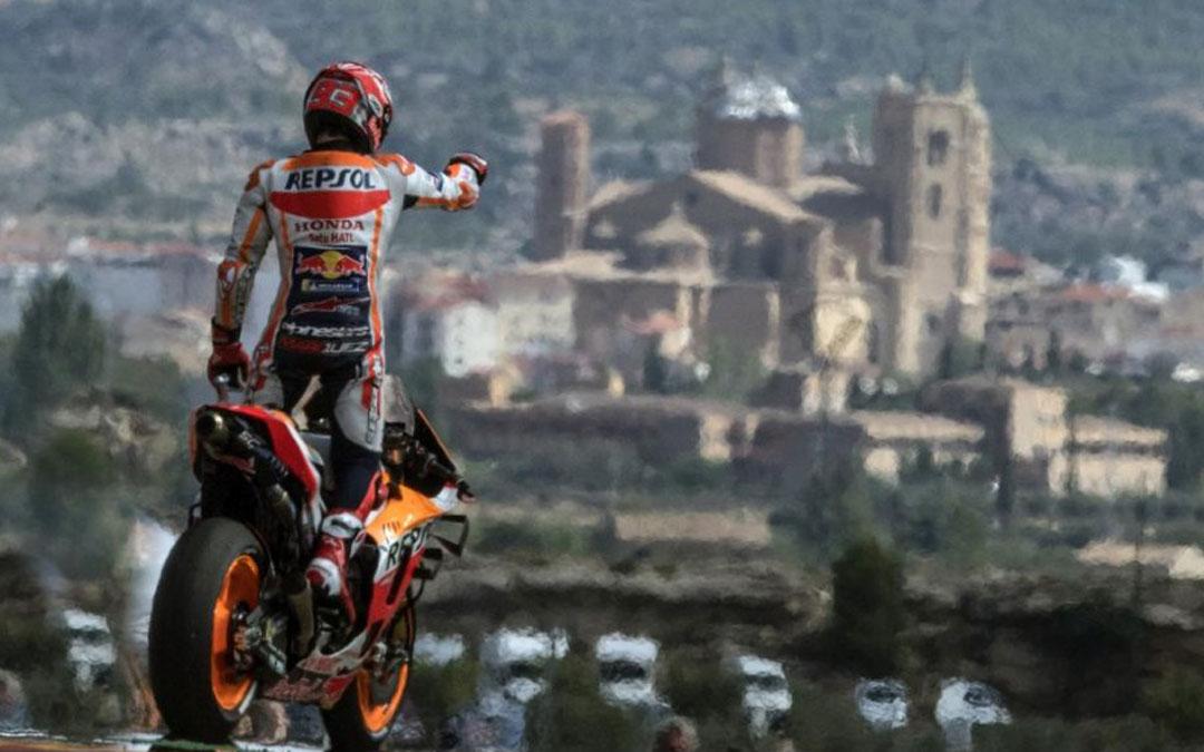 Márquez venció en septiembre su cuarta victoria consecutiva en Alcañiz en el Campeonato de MotoGP.