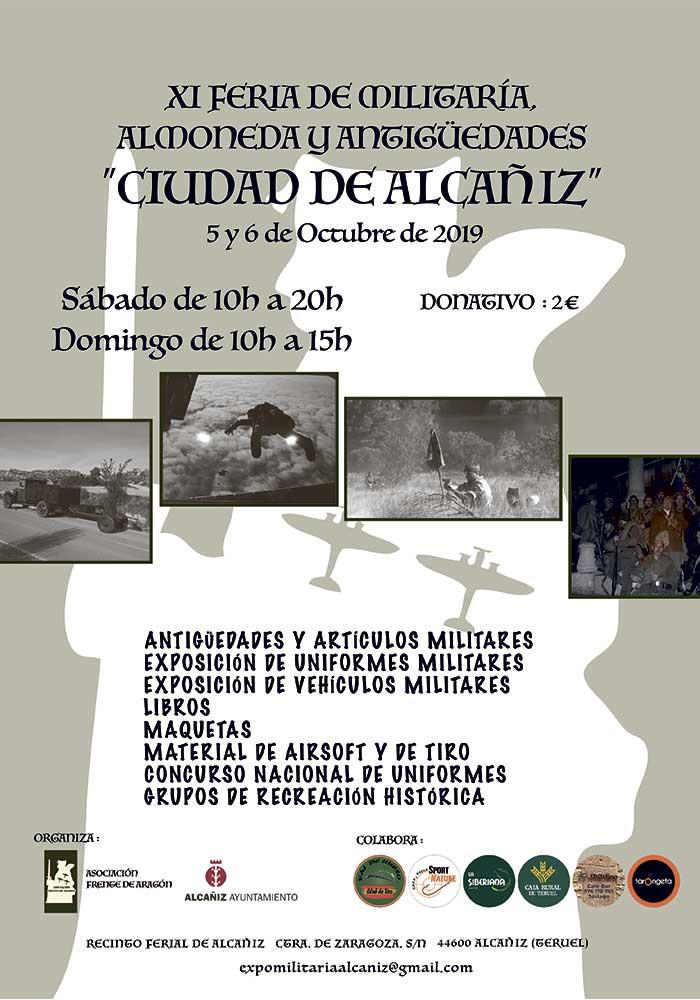 """XI Feria de Militaría, Almoneda y Antigüedades """"Ciudad de Alcañiz"""""""