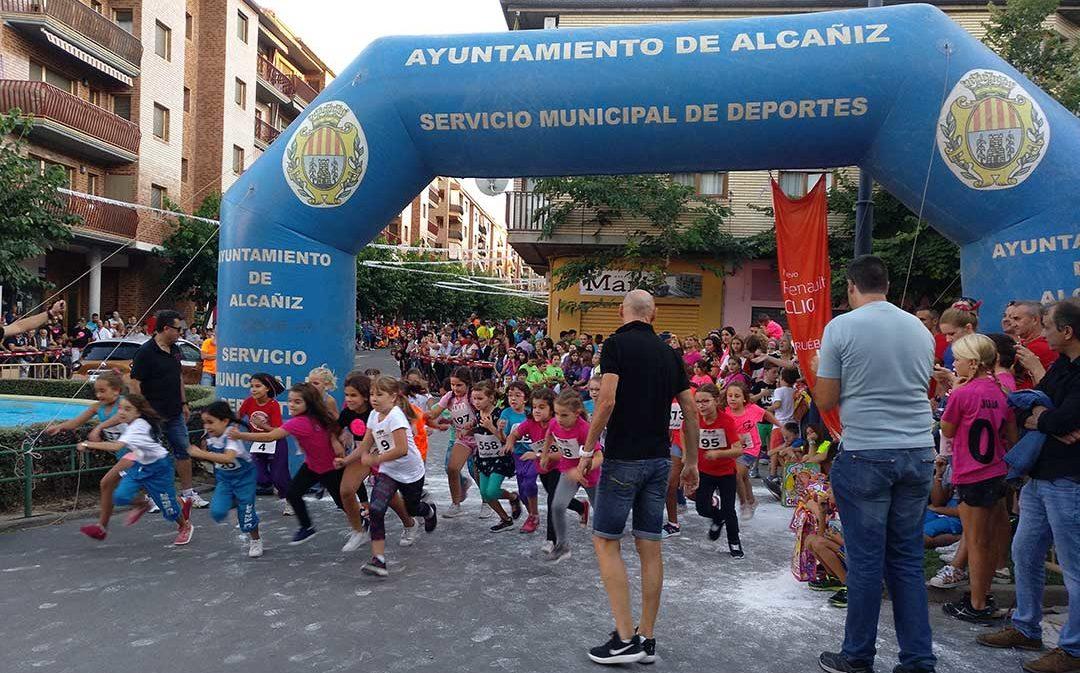 Más de 230 alcañizanos en la Milla Popular de Fiestas
