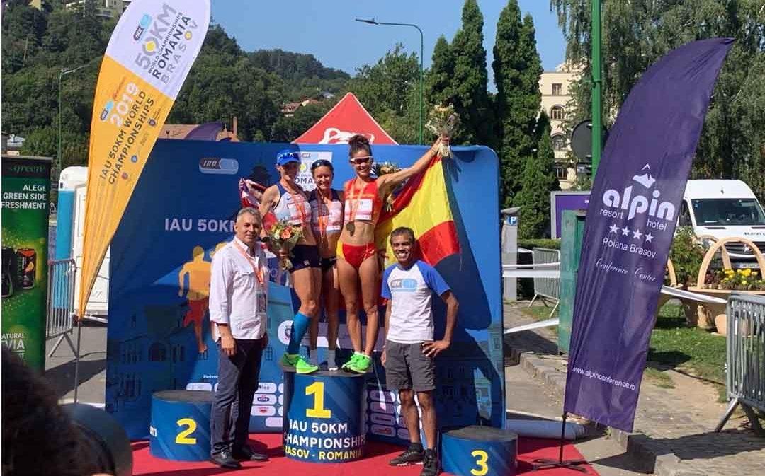 Alicia Pérez se cuelga la medalla de bronce en el mundial de 50 km. en ruta
