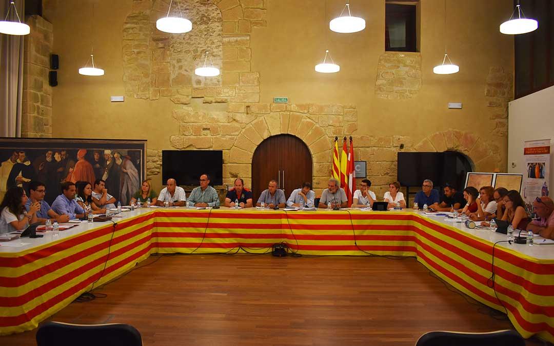 Consejeros comarcales durante el último pleno, celebrado en el mes de septiembre.