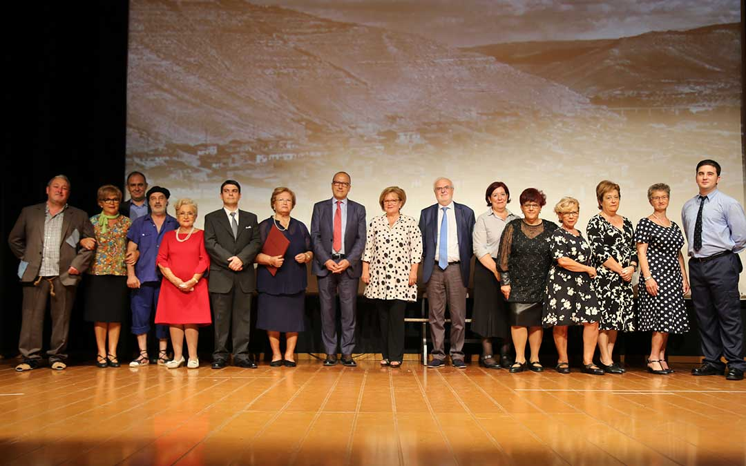 Imagen de los premiados, este sábado.