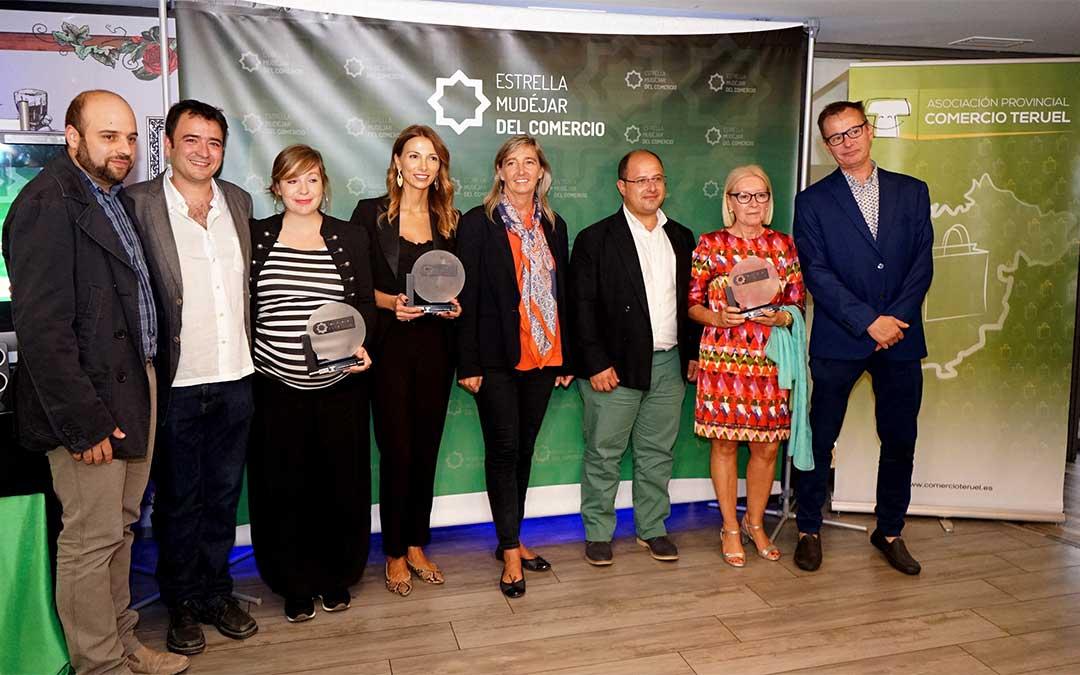 Galardonados de los premios Estrella Mudéjar del Comercio.