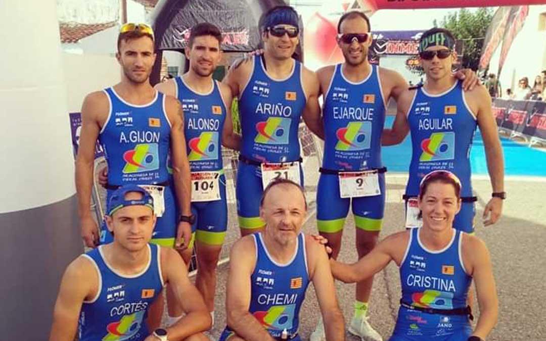 El equipo del AOC Tragamilas que participó en la cita que se celebró en Alfajarín