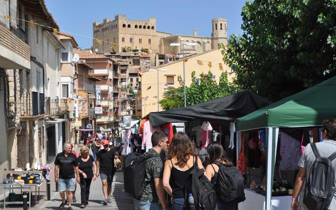 Las calles del centro de la localidad son el escenario de la feria de septiembre
