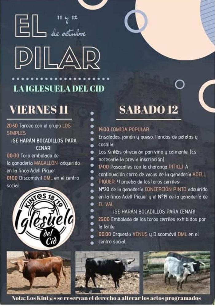 Fiestas del Pilar en La iglesuela del cid