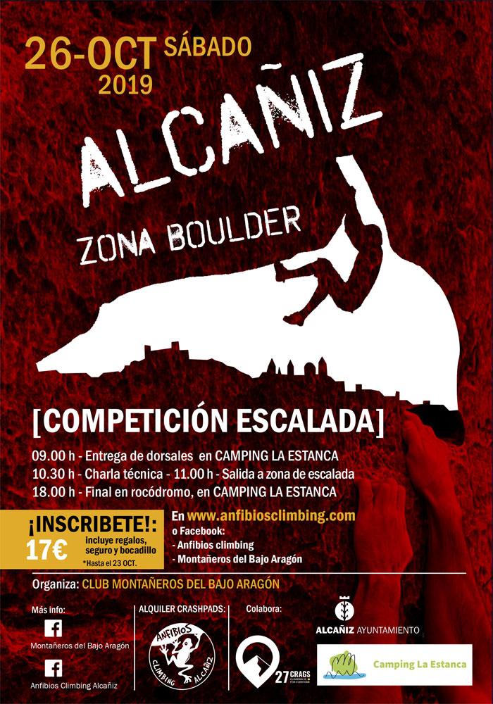 Competición de escalada en Alcañiz