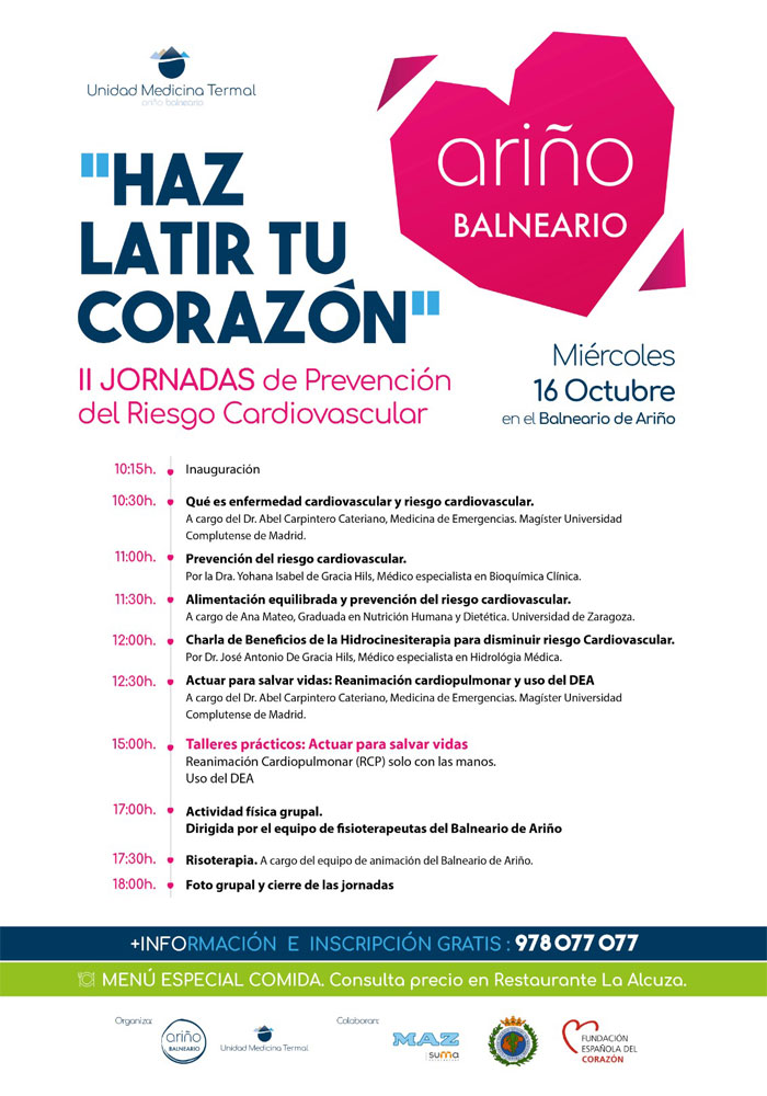 Haz latir tu corazón, II Jornadas de prevención del riesgo cardiovascular en Ariño