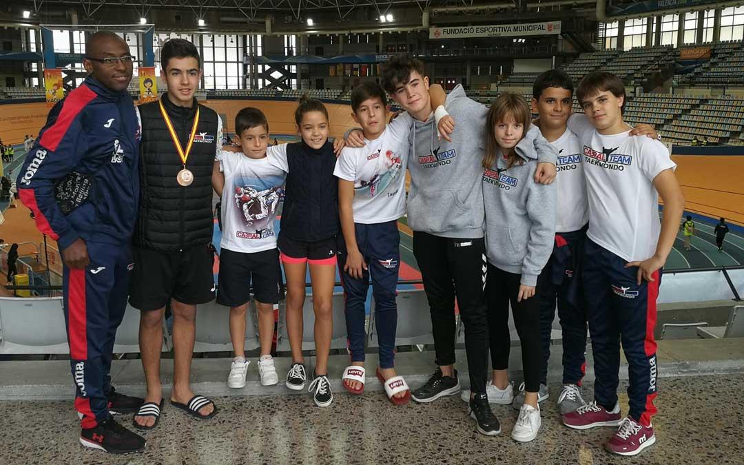 Componentes del Club Cabral Team que estuvieron presentes en Valencia