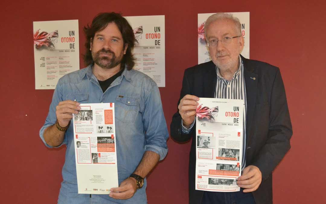 El concejal de cultura del consistorio alcañizano, Jorge Abril junto al técnico de cultura, Ignacio Micolau