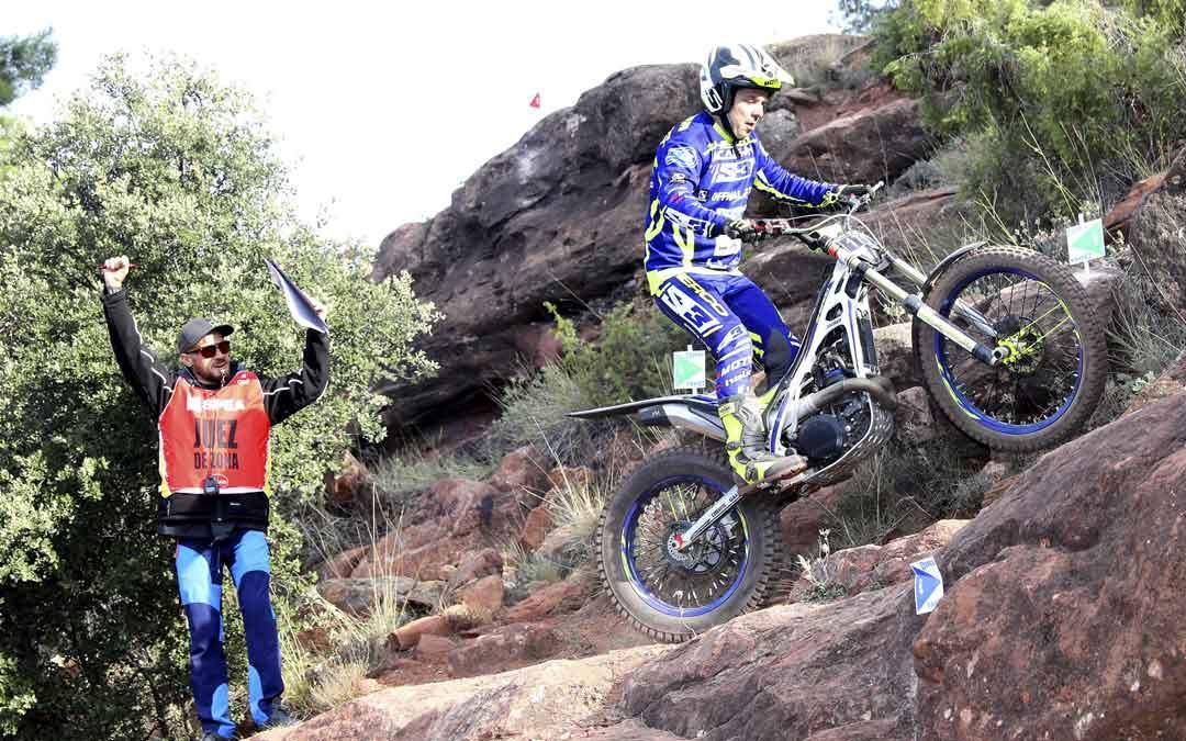 Sergio Puyo con la Sherco en una de las zonas que completaron el trial