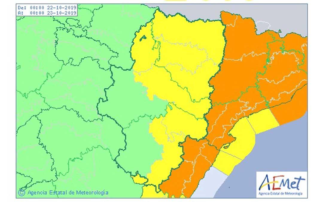La Agencia Estatal de Meteorología ha activado los avisos amarillos por lluvias y tormentas en el territorio.