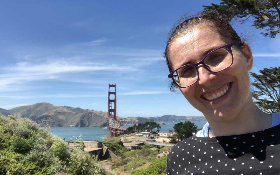 Ana Belén Griñón investiga en la Universidad de Stanford, situada en Silicon Valley, muy cerca de San Francisco (en la imagen, en el Golden Gate).