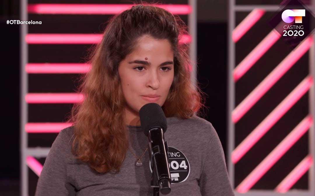 La alcañizana Ana Julieta Calavia durante el casting de OT 2020 en Barcelona.
