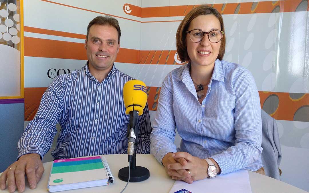 Joaquín Bielsa, vicepresidente, y Marta Sancho, presidenta de la Comarca Andorra-Sierra de Arcos.