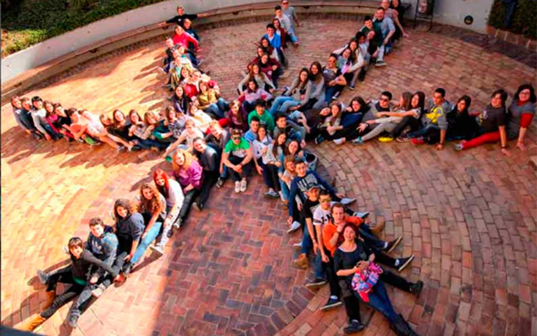 Jóvenes participantes en el proyecto de Antenas Informativas.
