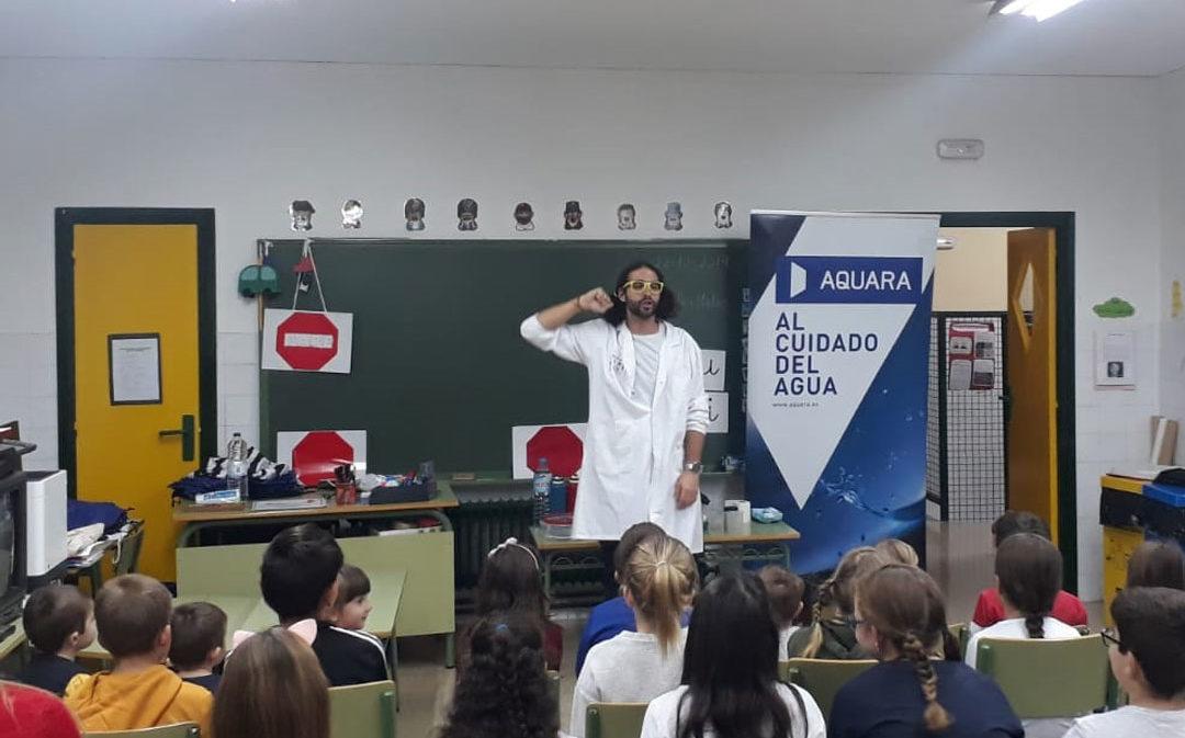Noventa escolares alcañizanos participan en el programa educativo Aqualogía
