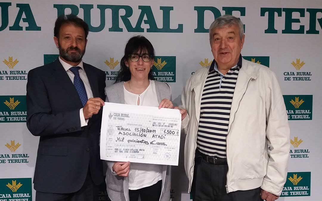 Caja Rural de Teruel dona a Atadi 1.500 euros del proyecto 'Bicicleta Solidaria 2019'