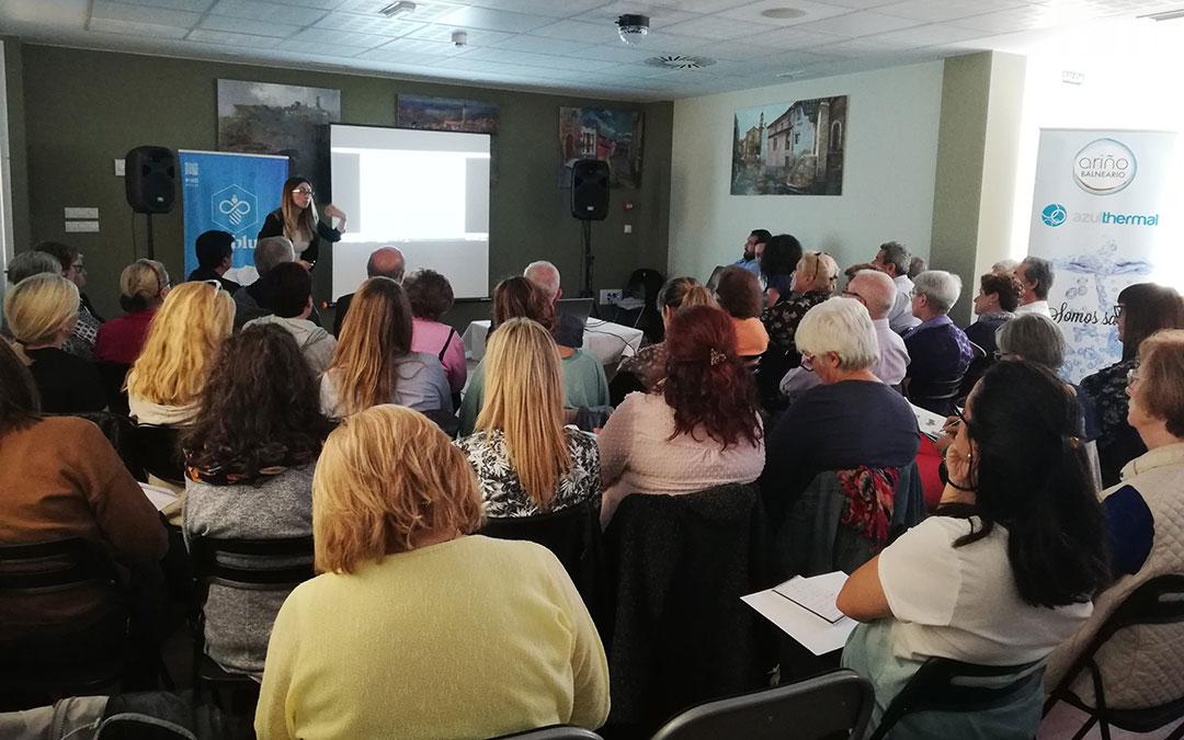 Cerca de 70 personas asistieron a esta serie de conferencias sobre salud cardiovascular./ Twitter Balneario de Ariño