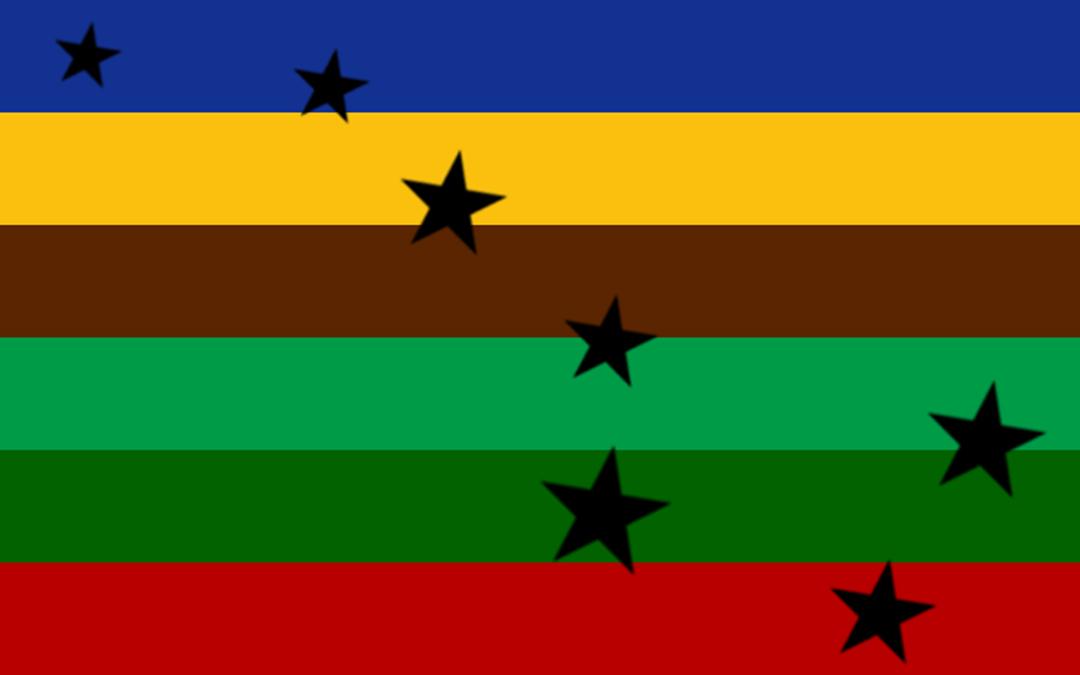 Bandera del 'Orgullo Rural'.