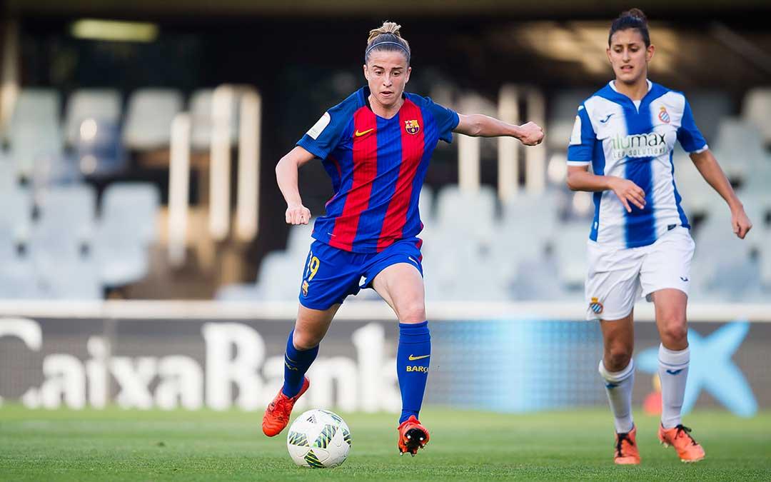 Barbara Latorre cuando jugaba con el FC Barcelona.