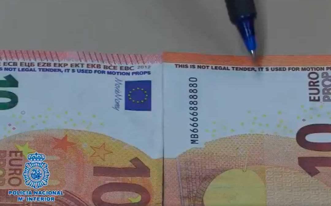 Billetes falsos en circulación