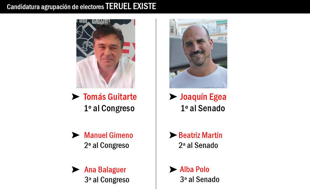 Tomás Guitarte y Joaquín Egea, candidatos al Congreso y al Senado por Teruel Existe