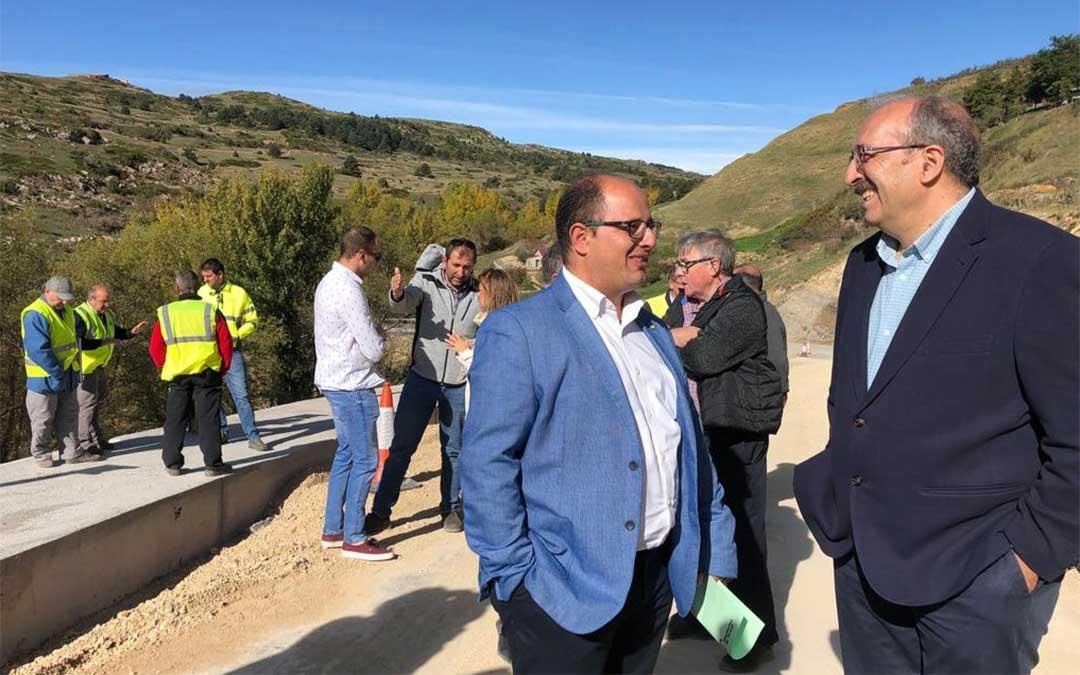 Visita del presidente y el vicepresidente de la DPT, Manuel Rando y Alberto Izquierdo, a las obras.