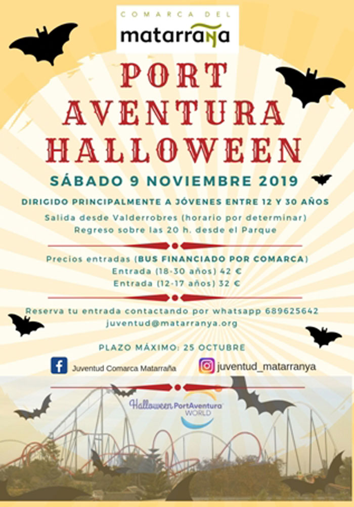 Viaje a Port Aventura en Halloween
