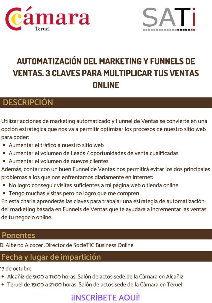 Charla sobre formación para estrategias de marketing en Alcañiz y Teruel