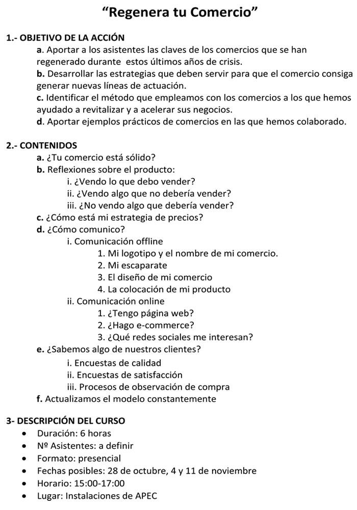 """Formación """"Regenera tu comercio"""" por Jesús Huertas en Caspe"""