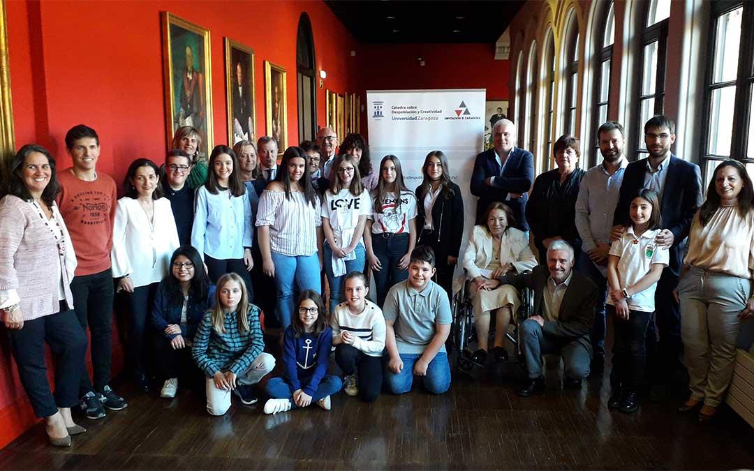 Participantes en el concurso '¡Qué bello es vivir… en mi pueblo!'./ DPZ.