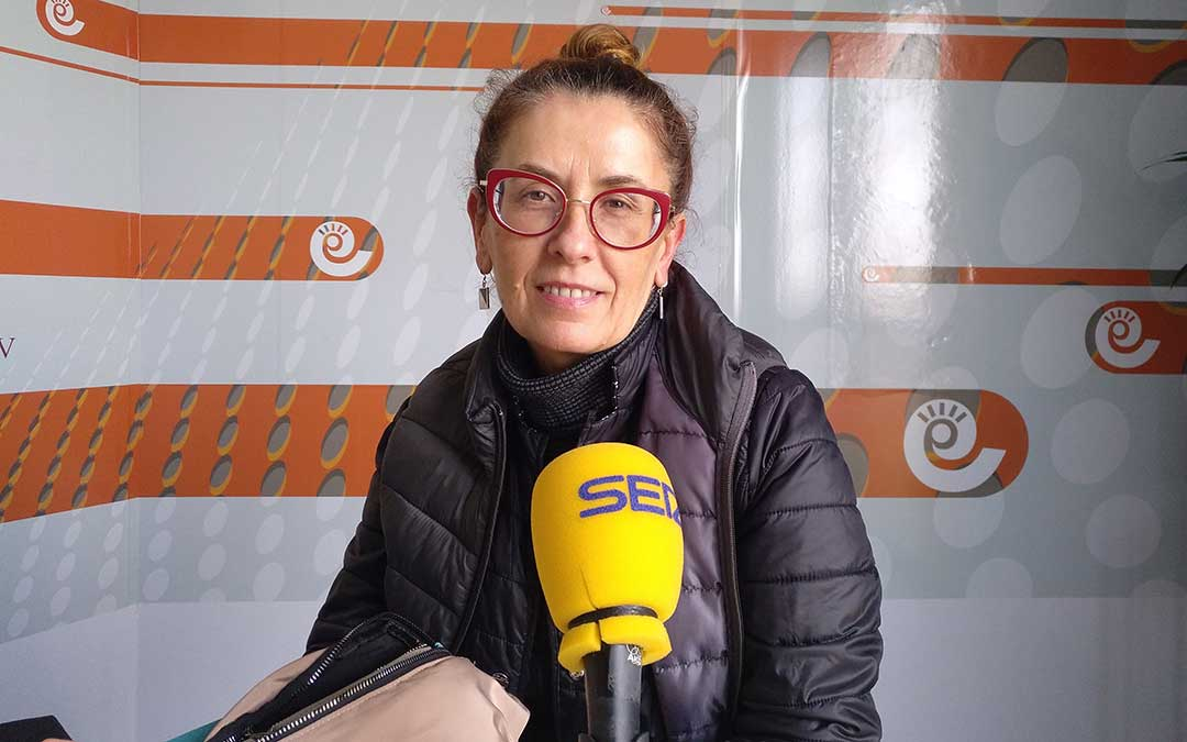 Cristina en el espacio de El Ropero.