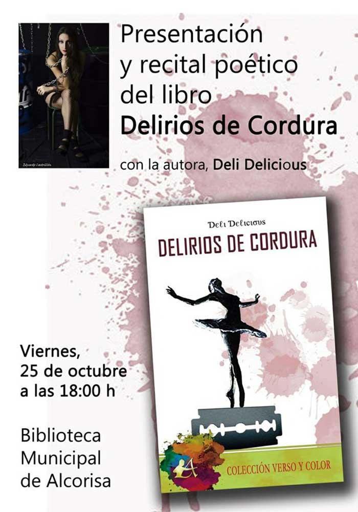 Presentación del poemario Delirios de Cordura en Alcorisa