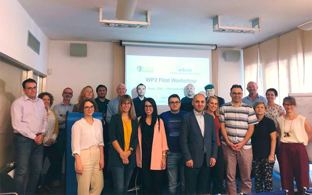 Participantes en la primera reunión del proyecto MAX en Roma.