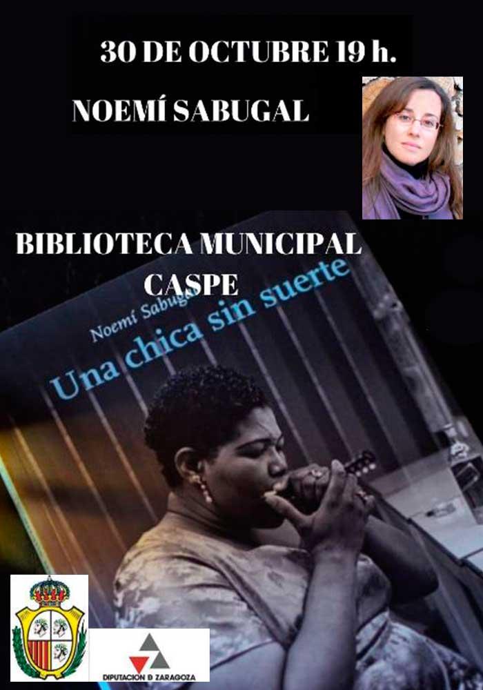 Encuentro en Caspe con la escritora Noemí Sabugal