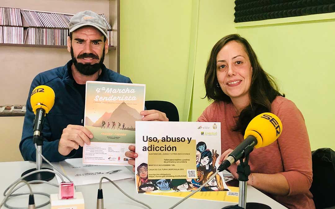 Guillem Fidel y Elia Corral, técnicos de Deportes y Juventud de la Comarca del Bajo Aragón-Caspe.