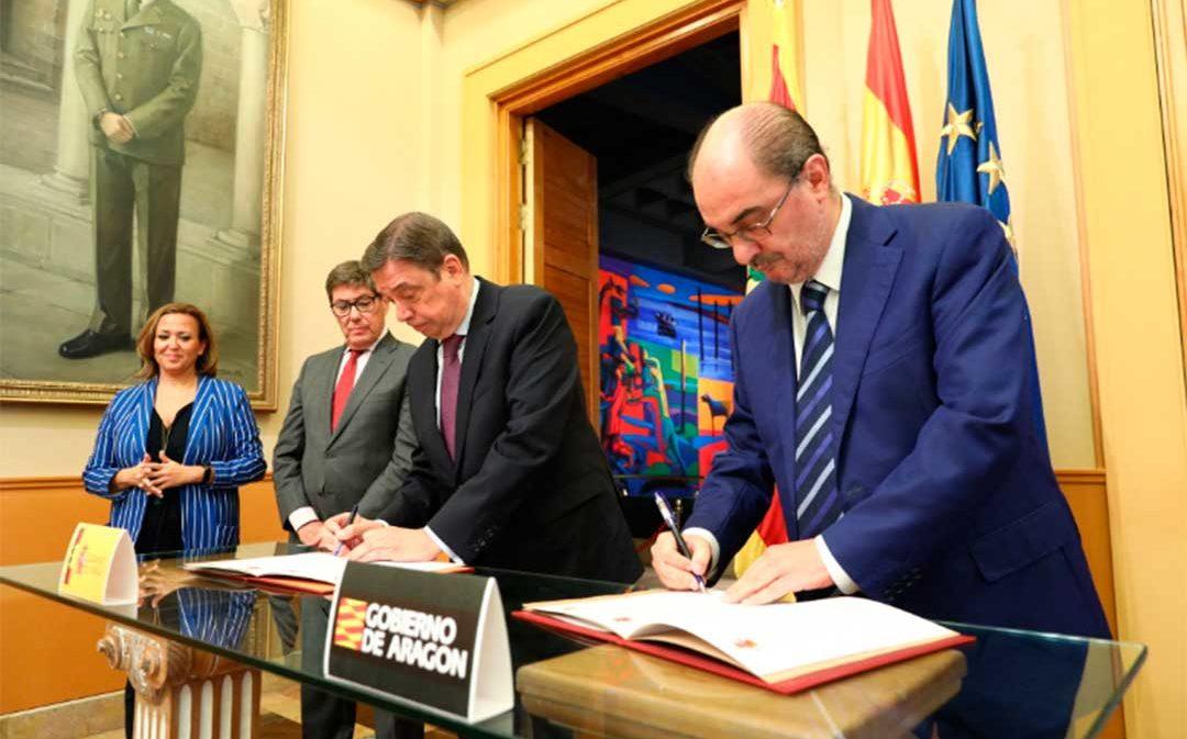 El Gobierno de España y DGA firman un protocolo para el FITE de 60 millones y el compromiso plurianual hasta 2022