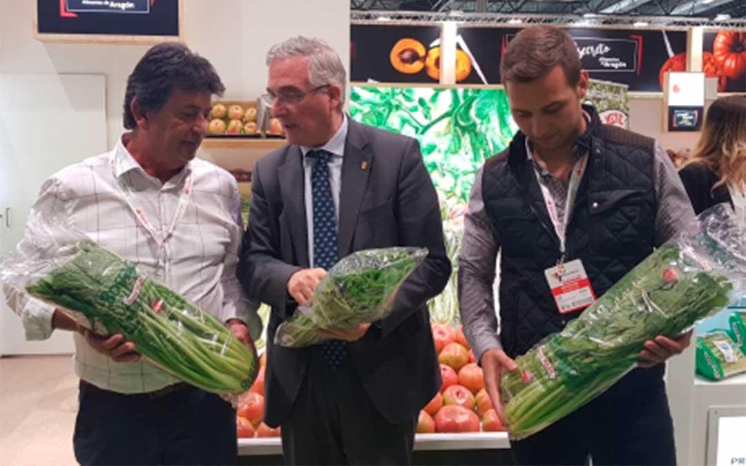 El consejero Joaquín Olona visita Fruit Attraction 2019 en IFEMA./ DGA