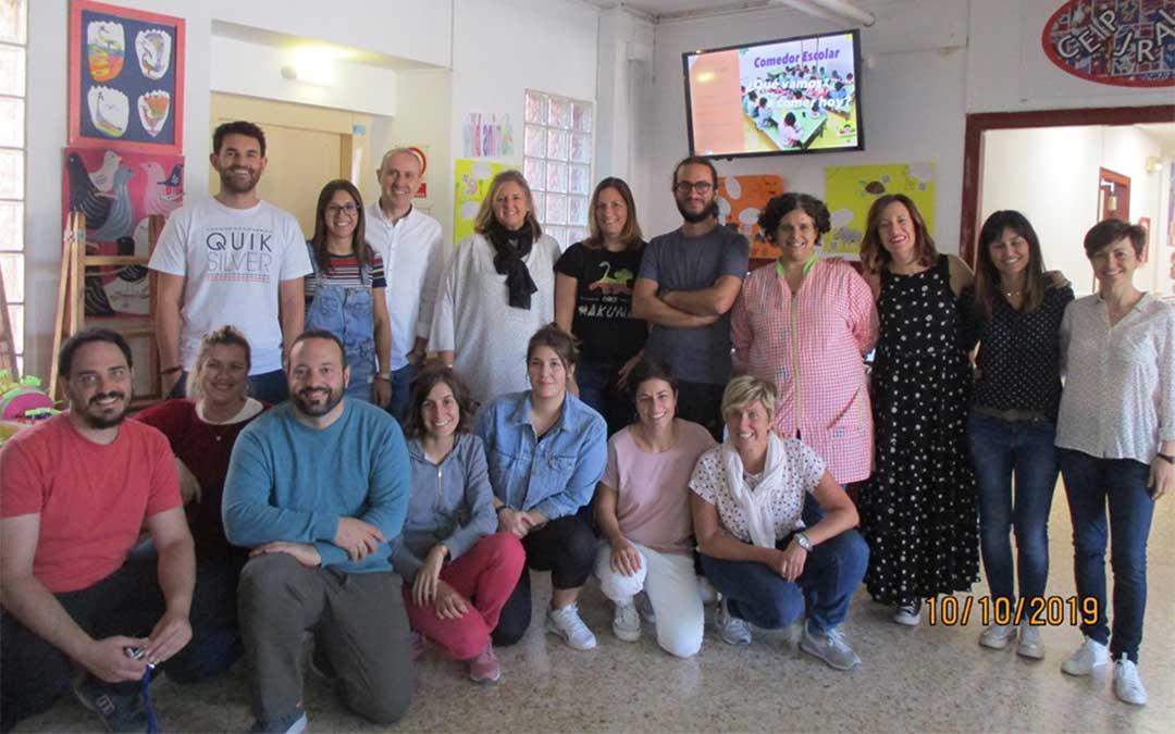 Encuentro mantenido por los profesores del Gloria Fuertes y Juan Ramón Alegre de Andorra./ Colegio Gloria Fuertes