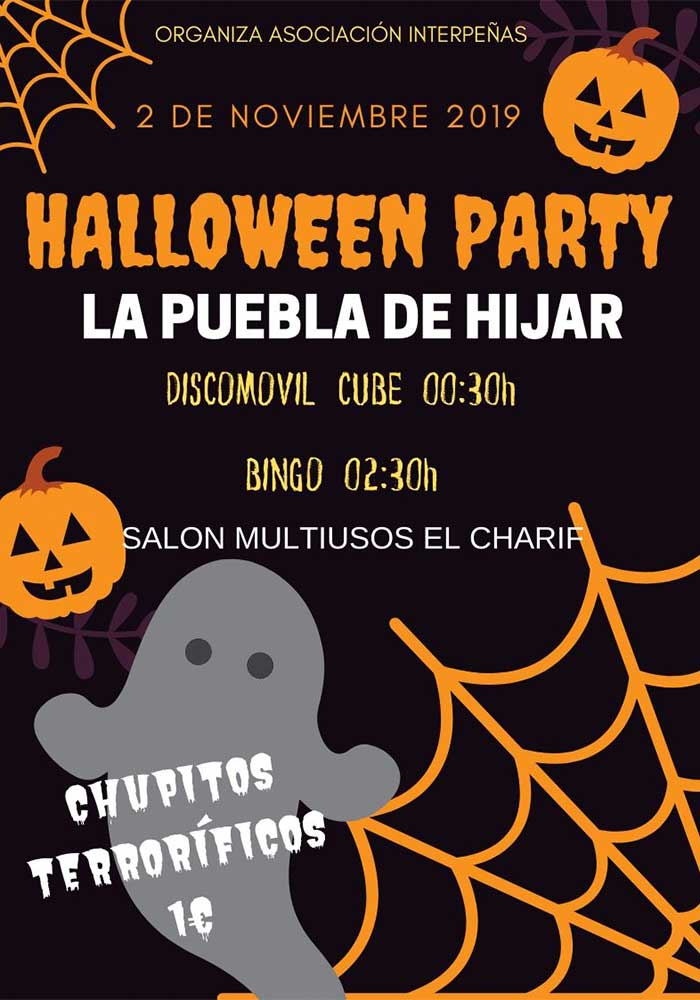 Programación de Halloween en La Puebla de Híjar