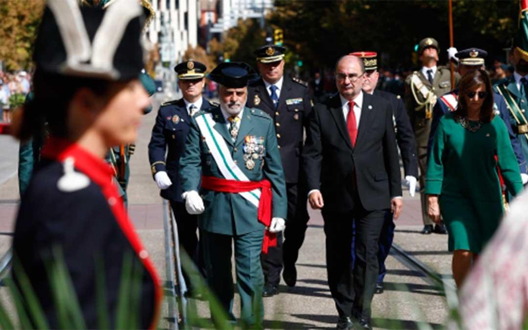 El Presidente de Aragón presidió el acto conmemorativo del 175 aniversario de la Guardia Civil en Zaragoza./ DGA