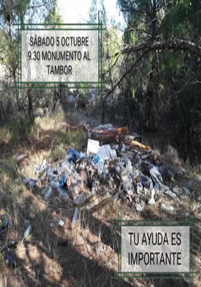 Jornada de limpieza en La Estanca de Alcañiz