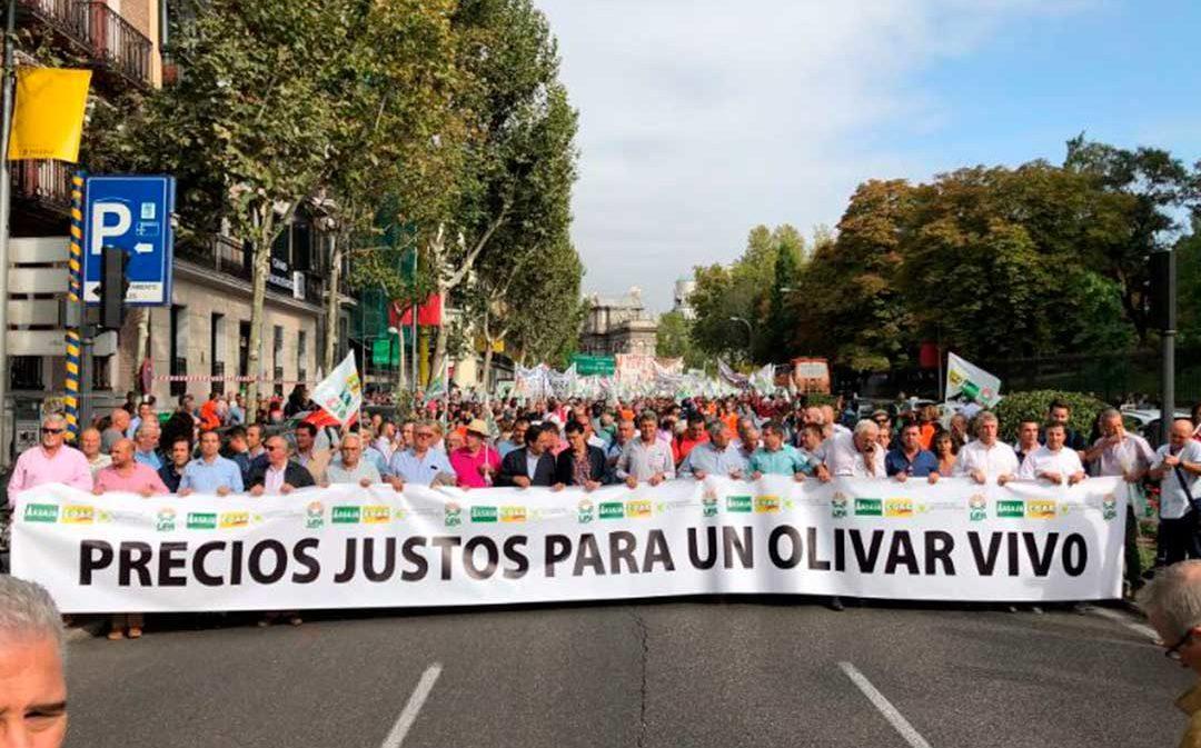 El aceite del Bajo Aragón se vuelca con la movilización de Madrid