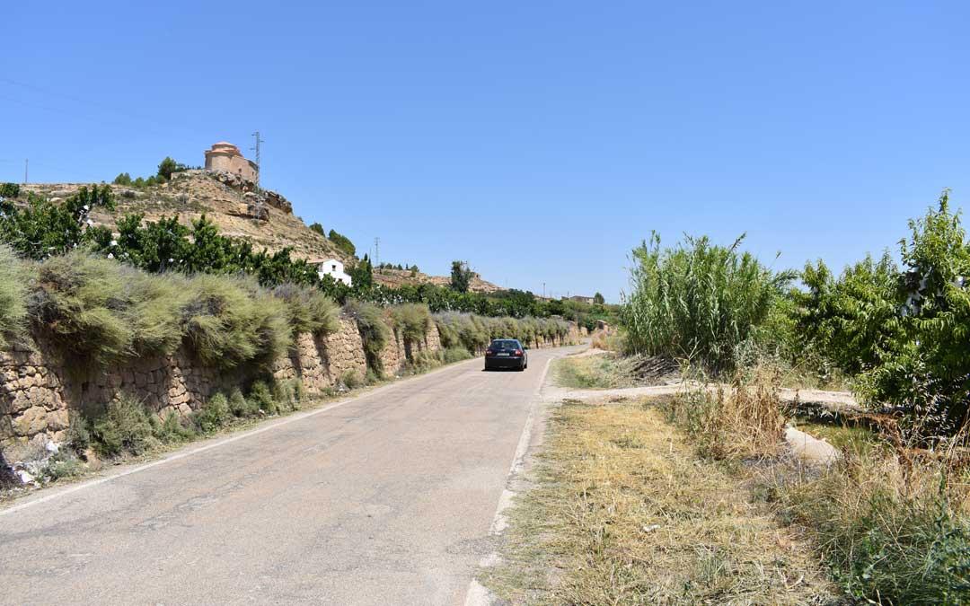 Imagen de archivo de un tramo de la carretera A-1412 que une Maella con Mazaleón.